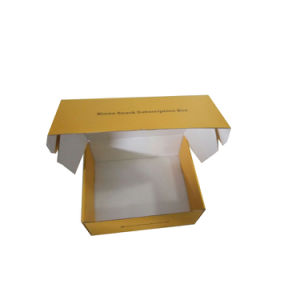 Yellow Corrugated Shipping Box with White Inside Cardboard Shipping Box pictures & photos