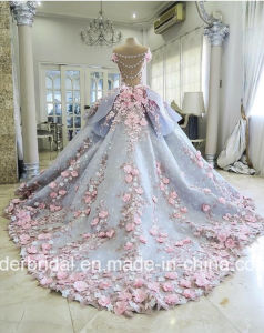 Flowers Wedding Ball Gowns Blue Quinceanera Bridal Dresses Z3033 pictures & photos