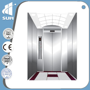 Machine Roomless Speed 1.5m/S Stainless Steel Passenger Elevator pictures & photos