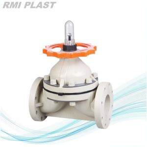 Flange Plastic Pneumatic Diaphragm Valve pictures & photos