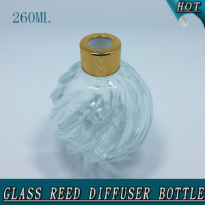 260ml Round Ball Clear Air Freshener Glass Reed Diffuser Bottle pictures & photos