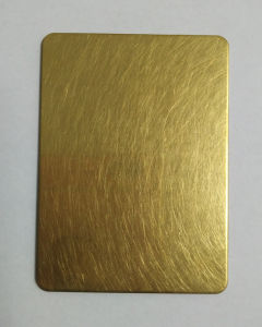 Golden Finishing Good Quality Hairline Stainless Steel Sheet pictures & photos