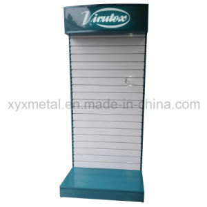 Customized Metal Slat Wall Board Slatwall Tools Exhibition Display Stand with Lighting pictures & photos