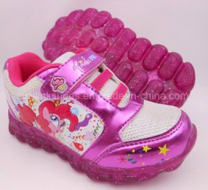 Sports Shoes with Light for Girls My Littlt Pony pictures & photos