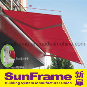 Aluminium Enhanced Curving Arm Awning pictures & photos
