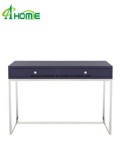 2016 Golden Flower Modern Fashionable Antique Mirror Stainless Steel Console Table pictures & photos