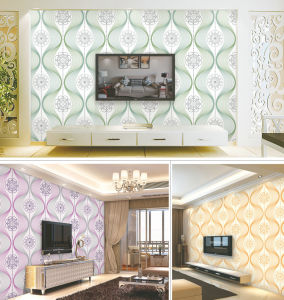 2017 Guangzhou Cheap PVC Waterproof 3D Wallpaper for Building Materials pictures & photos