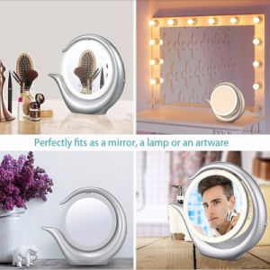 Hot Selling LED Makeup Mirror Lighted Double Sides 1X/7X Magnifying Makeup Mirror with LED Light pictures & photos