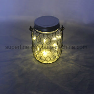 2AAA Battery Type Indoor and Outdoor Decoration Hanging Glass Lights with Flickering pictures & photos