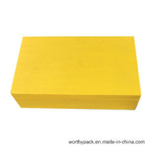 Golden Color Painted Wooden Gift Box
