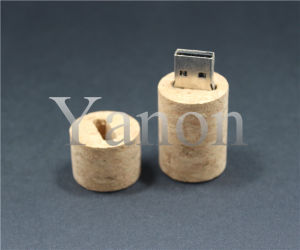 Sawdust USB Flash Drive Wine Stopper USB Flash Disk Wood USB Stick pictures & photos