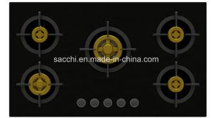Supreme Elite Five Brass Burner Gas Hob (8mm Glass) pictures & photos