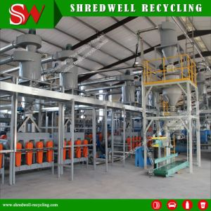 Tire Recycling Line Producing Powder Used in Rubberized Asphalt pictures & photos