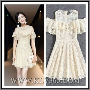 Designer Fashion Women Clothes Summer Lace Party Dress