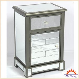 Accent Antique Mirrored Wooden Cabinet in Grey Wash pictures & photos