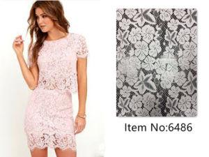 Wedding Dress White Embroidery Lace Nylon Fabric