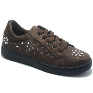Footwear Suede Classical Leisure Women Rubber Injection Sport Shoes pictures & photos