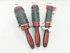 Sliver Color Plastic Professional Hairbrush pictures & photos