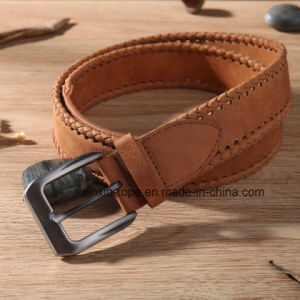 Fashion Cowboy Special Handmade PU Leather Buckle Belt Unisex pictures & photos