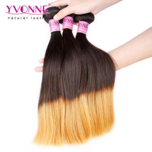 Top Quality Peruvian Straight Ombre Human Hair pictures & photos