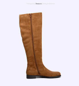 2017 Casual Tassels Lady Microfiber Shoes Flats Women High Boots pictures & photos