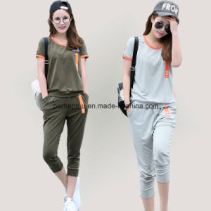 Women Sports Suit Large Size Loose and Casual Sportswear pictures & photos