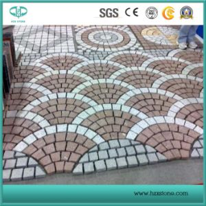 Red Porphyry Stone on Mesh, Cobble Stone, Natural Stone Paver pictures & photos