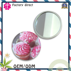 Single Face Tin Round Make up Small Mirror pictures & photos