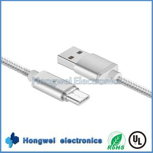 Nylon Braid Two-Sided Type-C USB 3.1 Magnetic USB Cable for iPhone7/6/5s pictures & photos