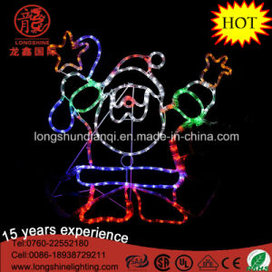 LED 90cm Silhouette Dancing Santa Rope LED Christmas Light pictures & photos