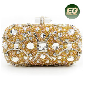 Hot Selling Product Rhinestone Crystal Handbag Ladies Evening Clutch Purse for Party Leb888 pictures & photos