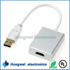 High Speed USB3.0 to 1.4HDMI Adapter Cable with Drivers and Utilities