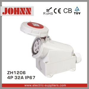 IP67 4p 32A Surface Mounted Industrial Socket pictures & photos