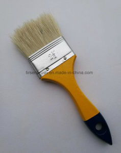 White Bristle Wooden Handle Paint Brush pictures & photos