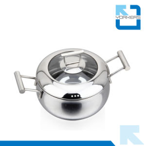 304 18/8 Stainless Steel Braiser Stock Pot & Stew Pot pictures & photos