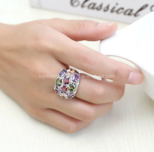 Colourful Power Diamond Gemstone Joyeria Drill Bit Engagement Fashion Stone Ring Jewelry pictures & photos
