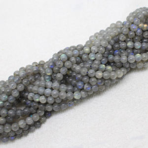 Wholesale Natural Labradorite Stone Bead Round Shape 5mm 6mm pictures & photos