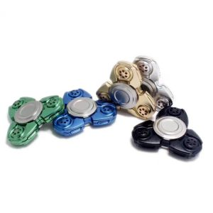Hand Spinner Metal Toy at Stock pictures & photos