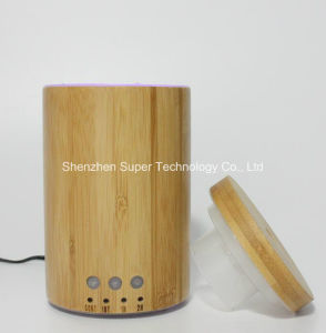 Real Bamboo Ultrasonic Aroma Diffuser 150ml with LED Light pictures & photos