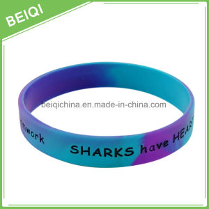 Cheap Festival Promotional Colorful Printed Silicon Wristband/Silicon Bracelet pictures & photos
