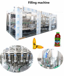 Automatic Juice with Pulp Hot Strawberry Drink Water Soda Carbonated Beverage Pet Bottle Filling Bottling Packaging Machine pictures & photos