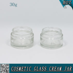 30ml Transparent Cosmetic Cream Container Glass Jar pictures & photos