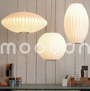 Northern Europe Modern Decorative Handmade Fancy White Silk Skin Lantern Cocoon Pendant Light pictures & photos