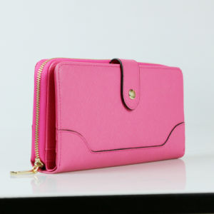 Lady Quality Designer Wallets OEM Genuine Leather Travel Wallet pictures & photos