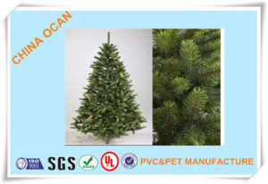 Different Grades Green Color Rigid Plastic PVC Film for Making Christmas Tree Leaves pictures & photos