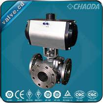 L Type Three Way Floating Ball Valve pictures & photos