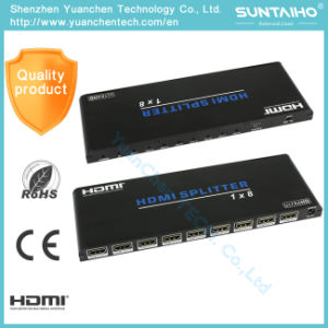 Support 3D 1080P 2.0V 1X8 HDMI Splitter for HDTV DVD PS3 pictures & photos