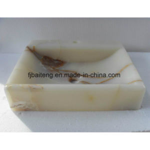 Rectangular White Jade Stone Basin pictures & photos