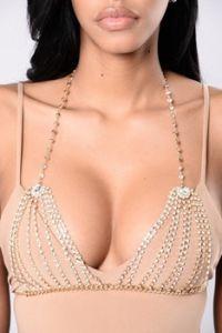 Fashion Metal Chain Crystal Designer Glittering Diamond Rhinestone Bra Body Jewelry pictures & photos