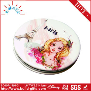 Metal Makeup Mirror with Customized Drawing pictures & photos